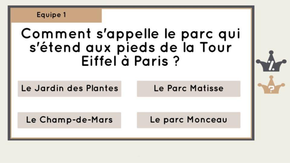 Quiz Paris, ville lumière - Application Wivy